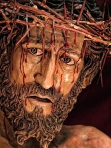 rostro de jesus en madera