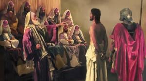 Jesus ante el Sanedrin